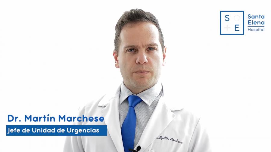El servicio de Urgencias de Hospital Santa por el Dr. Martín Marchese