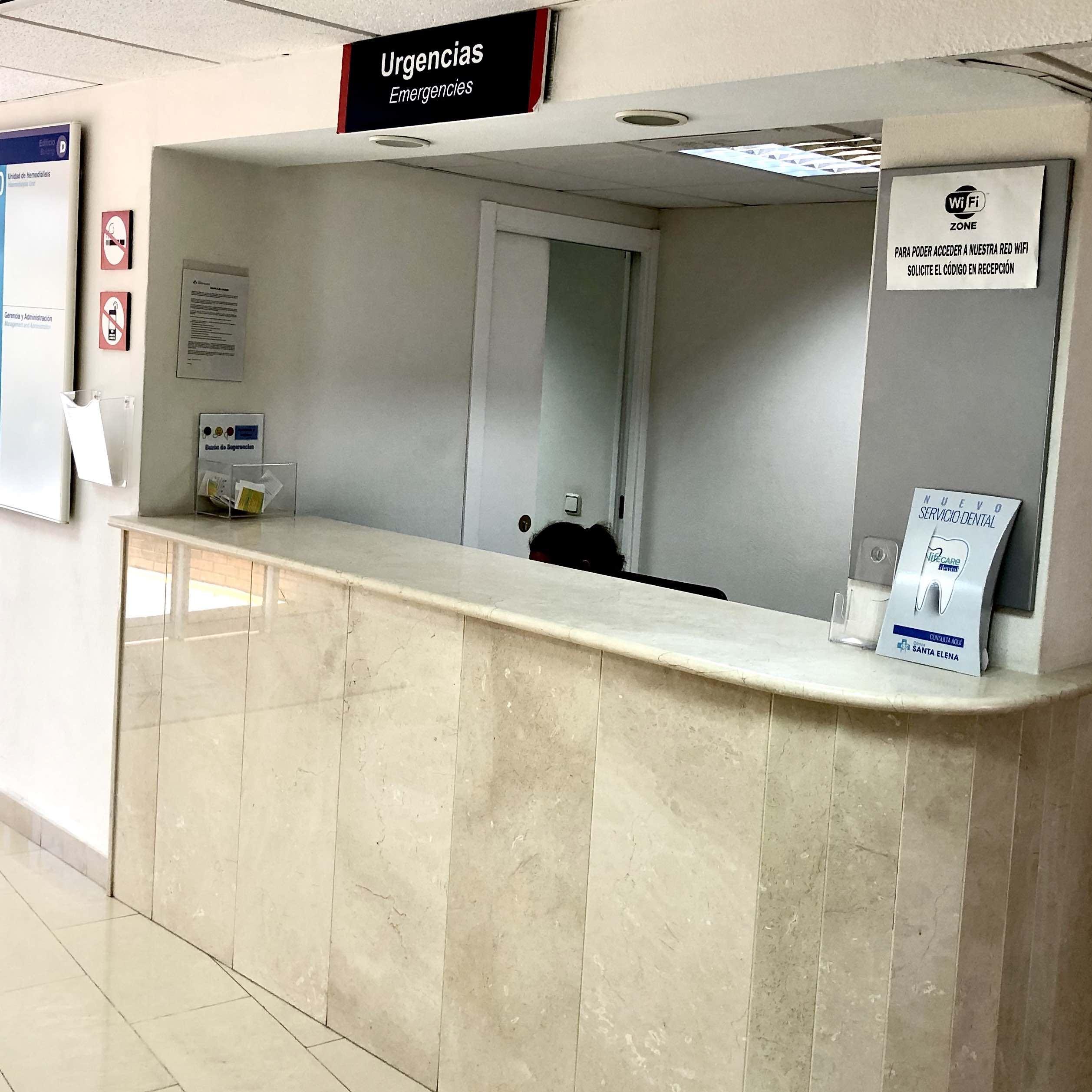 Urgencias - Hospital de día - Hospital Santa Elena, clinica médica en Torremolinos, Málaga. Servicios sanitarios en la Costa del Sol. Más de 30 especialidades y servicio de urgencia